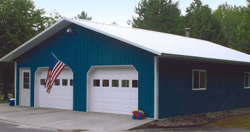 Two stall garage built by CS Construction Services