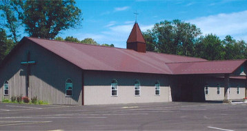 Metal roof on a church building installed by CS Construction Services